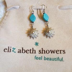 Elizabeth Showers rhodium silver EARRINGS